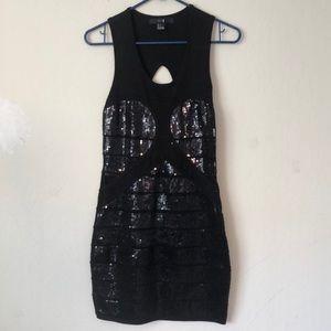 Forever 21 black sequins dress size: Large